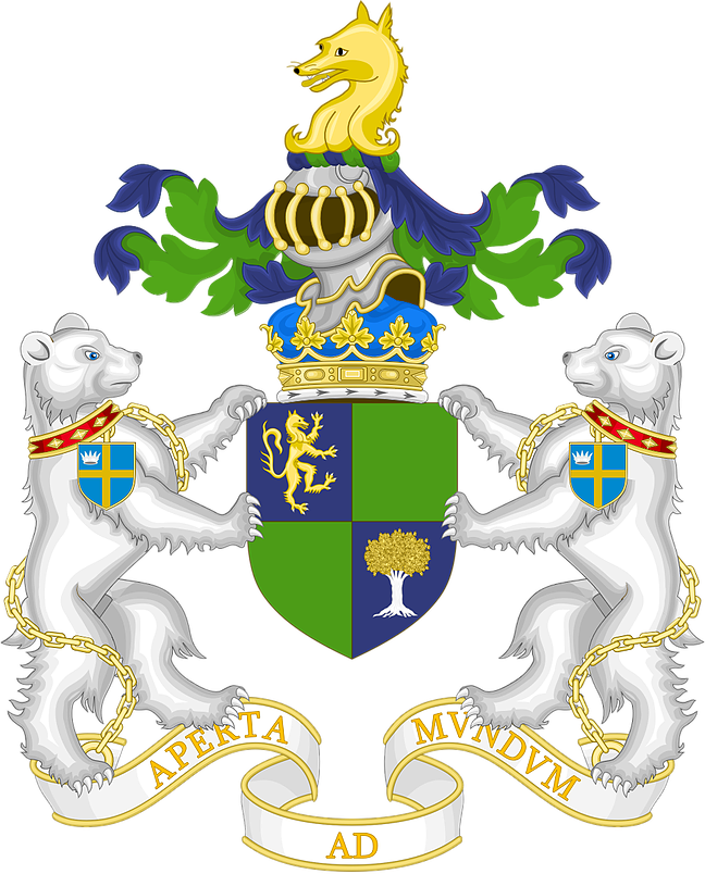 The full arms of the Duke of the Fox Grove